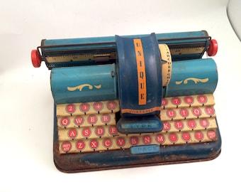 Toy Typewriter, Pressed Metal, Unique Art Manufacturing