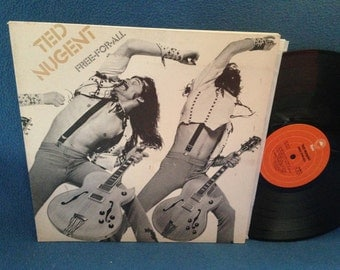 "Vintage, Ted Nugent - ""Free For All"" Vinyl LP, Record Album, Original First Press, Dog Eat Dog, Street Rats"