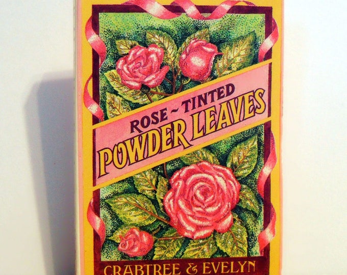 Vintage 1980s Rose-Tinted Powder Leaves by Crabtree and Evelyn in Packet
