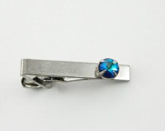 Sapphire Skinny Tie Clip - 8mm Stone - TT136b