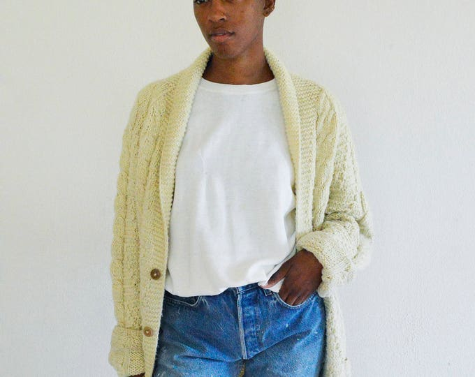 Oversized Cream Cowichan Sweater