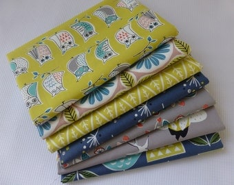 Fat Quarter Bundle, Monaluna Anya, 7 fat quarters