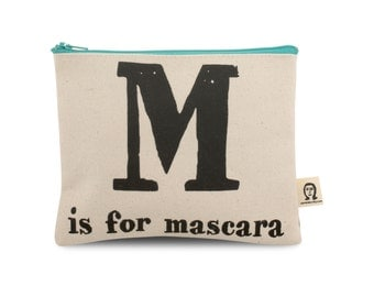 m is for mascara pouch
