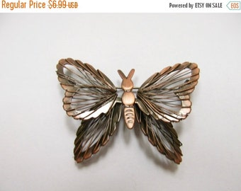 On Sale Vintage Copper Colored Wire Butterfly Pin Item K # 852