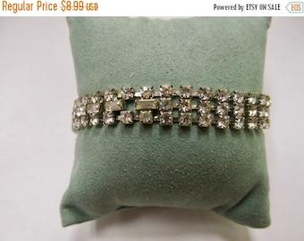 On Sale Vintage Sparking Prong Set Rhinestone Bracelet Item K # 371