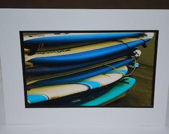 photo card, surfboard photograph card