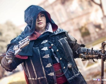 MADE TO ORDER Cosplay Assassin's Creed Evie Frye black outfit, jacket, coat, frock