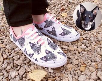 Pet Portrait Pumps - Custom Sneakers - Bespoke Design - OOAK - Various Styles