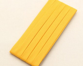 Cotton Candy Series Folded Cotton Bias in Yellow - 3 Yards 92884