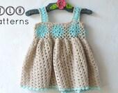 Crochet baby dress pattern, crochet baby dress, lacy summer dress, pattern no 72