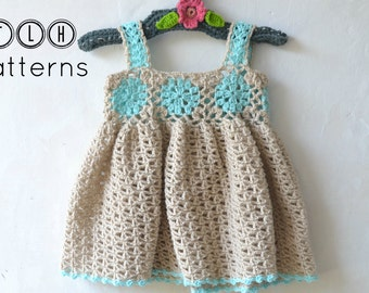 Crochet baby dress pattern, crochet baby dress, lacy summer dress, pattern no 72