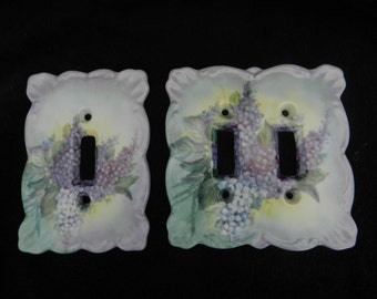 Porcelain   Switch Plates: Hand Decorated