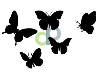 BUTTERFLIES- SVG Cut file- Digital Download