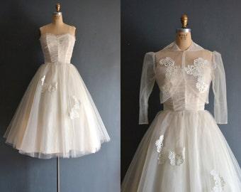 Fern / 50s wedding dress / vintage 1950s wedding dress