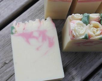 DEVOTION bar SOAP | Coconut Milk Soap | Handmade Soap | Silk Soap | Cold Process Soap | Soap Gifts for Her | White Rose Soap