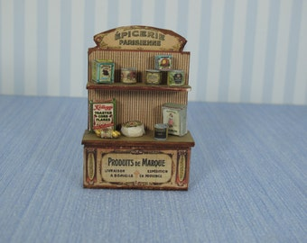 Dollhouse Epicerie parisienne toy nursery, Handmade Dollhouse Miniature Small Parisian grocery store to play the children of our dollhouse