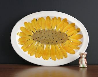 Vera Neumann Sunflowers Platter - Vera Neumann Island Worcester Sunflower Serving Platter - Jamaican Jamaica Vera Oval Oval Serving Dish