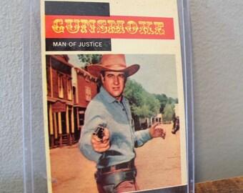 1958 TOPPS Gunsmoke trading card, #4 Man Of Justice