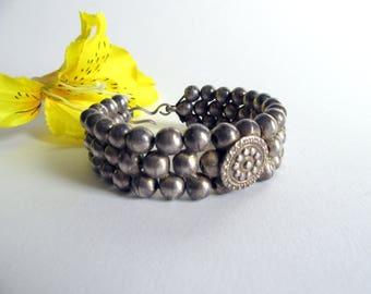 Unique Antique Silver Bracelet from India.
