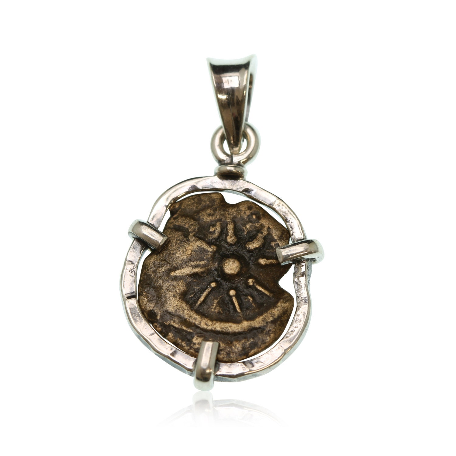 sterling silver pendant widow 39 s mite jewelry coin