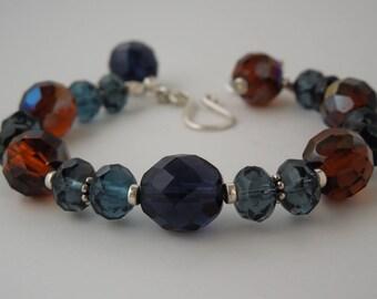 Montana Blue and Golden Honey Sterling Silver Bracelet