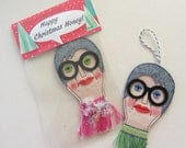 Iris Apfel Christmas Decoration Hanging Doll