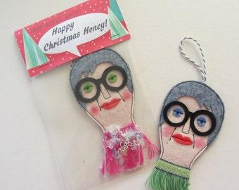 Iris Apfel Decoration Hanging Doll