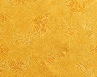 Yellow orange cotton fabric, Texture Spectrum, Marigold fabric