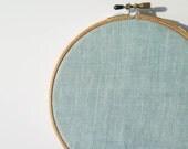 32 ct Cross Stitch Linen Fabric in Seafoam - Weeks Dye Works Hand Dyed Linen for Cross Stitch, Embroidery - Sea Foam