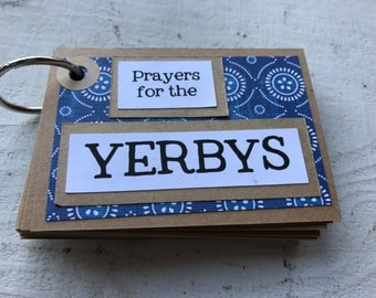 Personalized Book of Prayers - Blue and White
