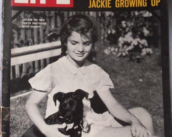 Vintage Life Magazine , Jackie Kennedy 10 years old, Growing up Her family,Lots of Photos, ( 1963 )