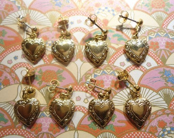 4 Prs. of Goldplated Heart Earrings