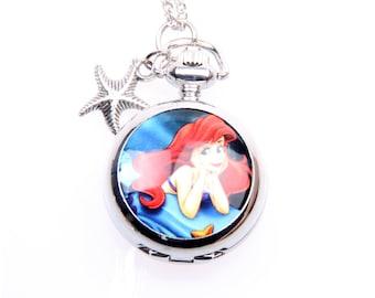 Necklace pocket watch Ariel 2222M