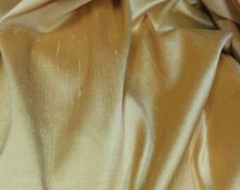 2 yards 32 in - Yellow Silk Dupioni, Silk Shantung, Raw Silk, Remnant Piece, Silk Fabric, Dress Fabric, Dress Material