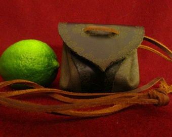 Leather Medicine Pouch, Medicine bag, Amulet neck pouch