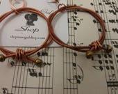 Copper Hoop Earrings - Piano Wire Earrings - Copper Piano String Jewelry - Upcycled Piano String - Copper Earrings - Music Gifts