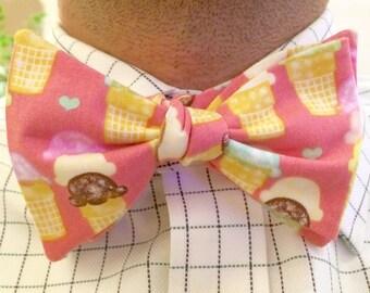 Ice Cream Cone Bow Tie