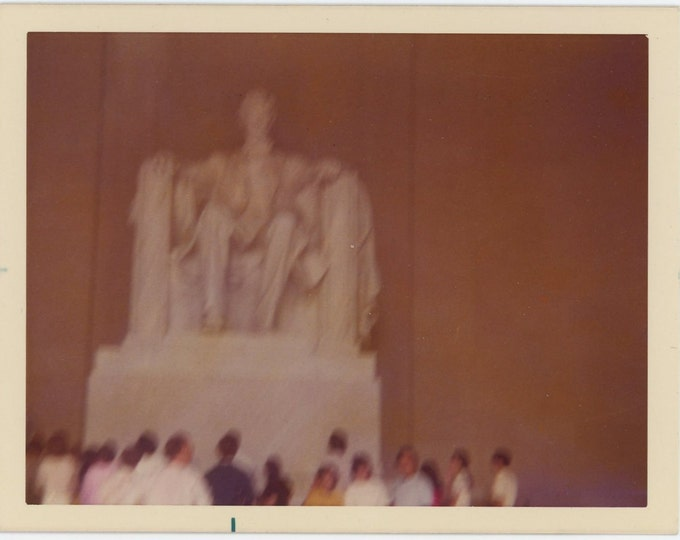 Vintage Snapshot Photo: Lincoln Memorial, 1974 (73553)