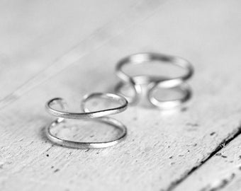 DOUBLE MIKA Ring | silver