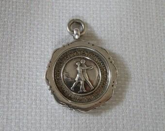 RARE Antique English Dance Award Medal - 1855 Hallmarks