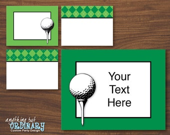 Golf Editable Party Signs, Printable Golf ParTEE Wall Signs, INSTANT DOWNLOAD, digital file