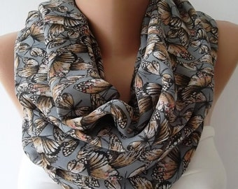 Scarf Christmas Gift Holiday Gift Butterfly Loop Scarf Winter accessories Fashion Accessories Gift For Her