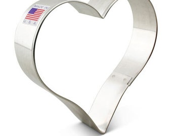 "Heart Cookie Cutter 4""  - Tin Cookie Cutter - baking supplies party favors - heart shaped cookies foundant treats"