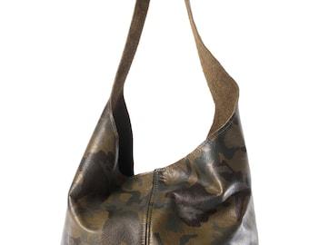 Leather Hobo style shoulder bag Stylish Soft Purse Boho Everyday Casual