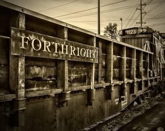 Steam Travel Knoxville Tennessee Americana Train Engine Railroad Rail Transportation Forthright Coal Car Sepia Art Photo