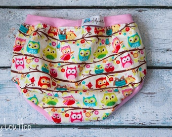 Custom Owl Undies for girls and boys- 6 styles