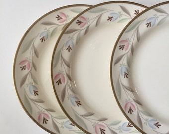Homer Laughlin Plates / 6 Vintage Nantucket Eggshell Nautilus Dessert/Bread & Butter China Plates Cottage Chic Plates