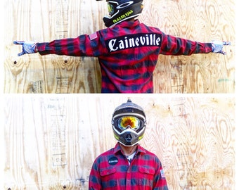 Caineville flannel by Frozen Kiss for Braaapfest Utah Swingarm City Factory Butte