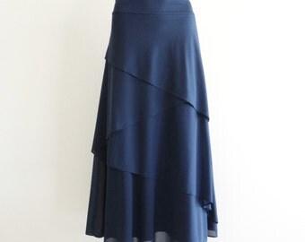 Navy Blue Bridesmaid Skirt. Navy Maxi Skirt
