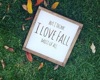 I love Fall, Handmade Wood Sign